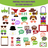 Toy Story Inspired Printable Photo Booth Prop Set