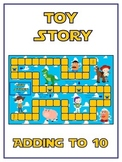 Toy Story Math Folder Game - Common Core - Adding to 10