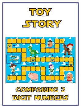 Toy Story Math Folder Game - Common Core - Comparing 2 Dig