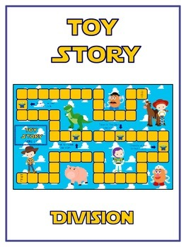 Toy Story Math Folder Game - Common Core - Division - Dividing Numbers