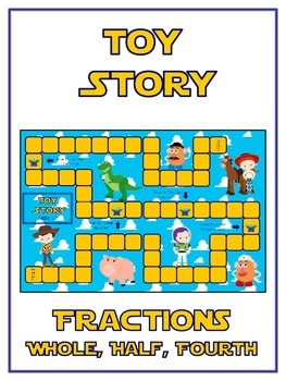 Toy Story Math Folder Game - Common Core - Fractions