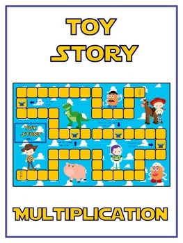 Toy Story Math Folder Game - Common Core - Multiplication