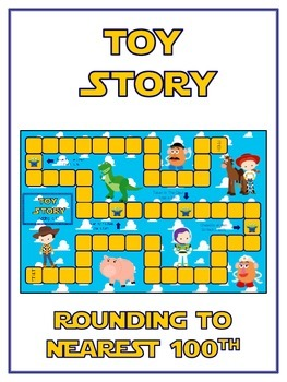 Toy Story Math Folder Game - Common Core - Rounding to Nea