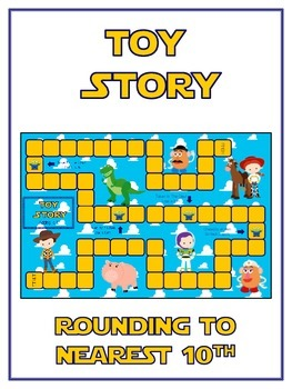 Toy Story Math Folder Game - Common Core - Rounding to Nearest 10th