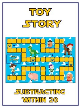 Toy Story Math Folder Game - Common Core - Subtracting 10 to 20