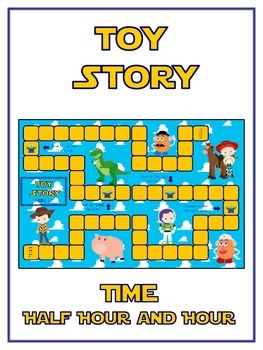 Toy Story Math Folder Game - Common Core - Telling Time Half Hour Hour