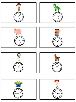 Toy Story Math Folder Game - Common Core - Telling Time within 5 Minutes