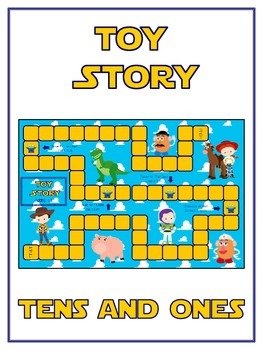 Toy Story Math Folder Game - Common Core - Tens and Ones - Place Value