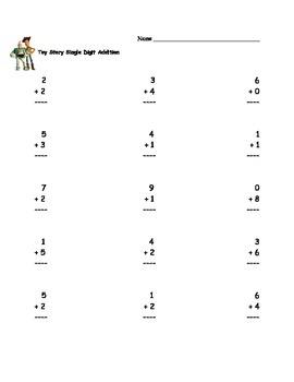 Toy Story Mathematics Worksheets