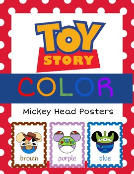 Toy Story Mickey Head Color Posters