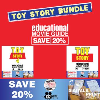 Toy Story Movie Guide | Worksheet | Bundle (1995 & 2019 Versions) SAVE 20%