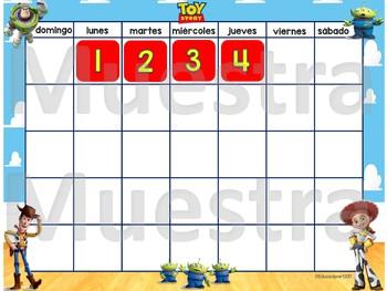 Toy Story Spanish Calendar Set