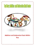 Toy Story Themed: Addition and Subtraction Math Center (Within 5)