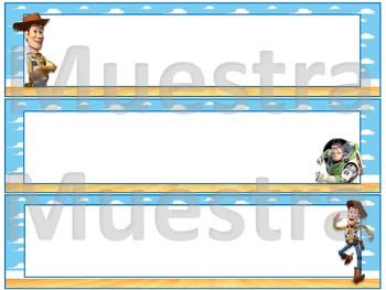 Toy Story nameplates