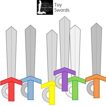 Toy Swords Clip Art