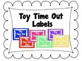 Toy Time Out Box Labels