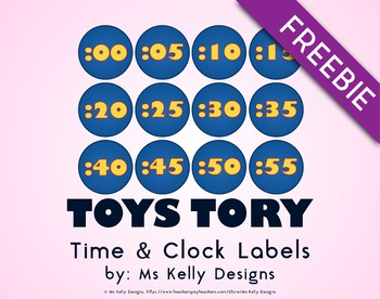 Toy Time and Clock Story Labels
