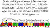 Toy Train Clip Art, Wall Decoration, Game Pieces, Worksheet