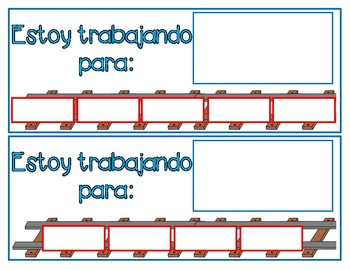 Toy Train Token Board (Spanish & English) FREEBIE