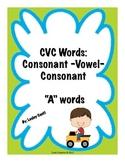"""Toy Trucks CVC """"A"""" Words"""
