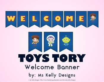 Toy Welcome Banner Story for Classroom