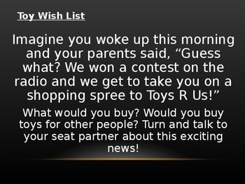 Christmas Toy Wish List