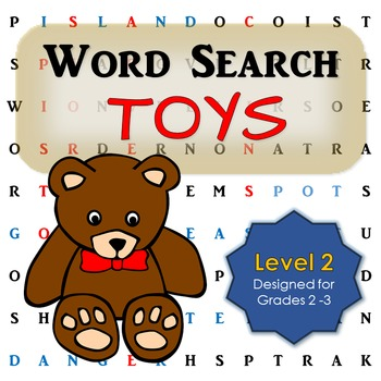 Toy Word Search Activity for First and Second Grade