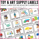 Toy and Art Supplies Labels for the Playroom or Classroom