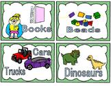 Custom Toy Bin Labels