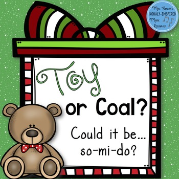 Toy or Coal? FREEBIE {Do Interactive Game}
