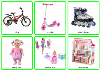 Photo Picture Cards *54 TOYS* 3 Formats 3.5x3.7""