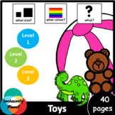 Toys AUS/UK version WHAT SIZE, WHAT COLOUR, WHAT? level 1,