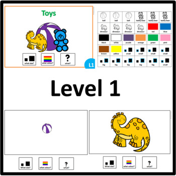 Toys American version WHAT SIZE, WHAT COLOR, WHAT? level 1, 2 and 3