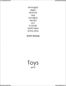 Toys BUNDLE (Set I, II) Picture Flashcards