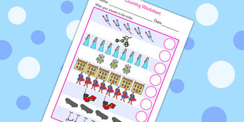 Toys Counting Worksheet