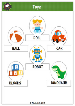 Toys  Finger Puppets (level 1)