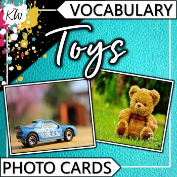 Toys Vocabulary Flashcards (Speech Therapy, Special Education, ESL, etc.)