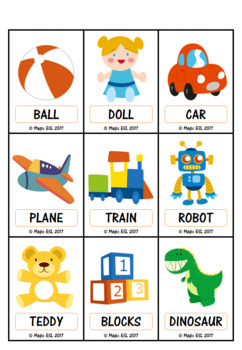 Toys   Flashcards + Minicards (level 1)
