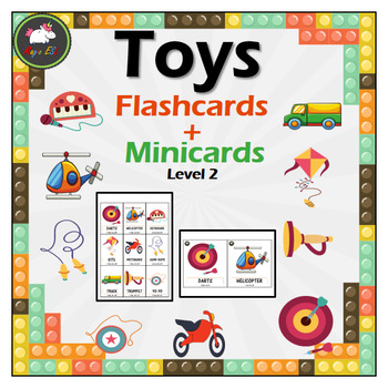Toys  Flashcards + Minicards (level 2)
