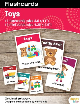Toys Flashcards / Set of 15 / Printable
