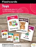 Toys Flashcards / Set of 15 / Printable