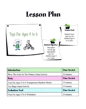 Toys For Ages 4 to 6 Lesson