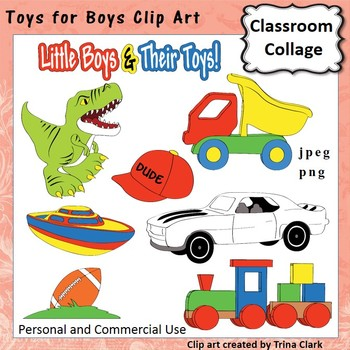 Toys For Boys Clip Art - color - personal & commercial use