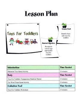 Toys For Toddlers Lesson