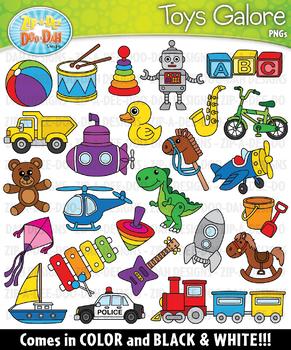 Toys Galore Clipart Set — Includes 50 Graphics!