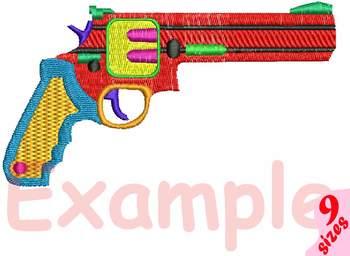 Toys Gun Bullet Embroidery Design guns toy pistol cowboy navy army military 174b