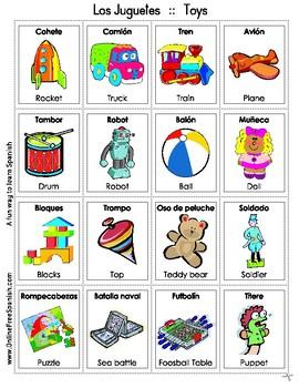 Toys - Los juguetes - Bingo Bilingüe - Bilingual bingo