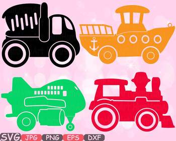 Toys Machine clipart toy cars airplane boat train stickers