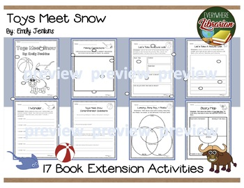 Toys Meet Snow by Jenkins 17 Book Extension Activities NO PREP