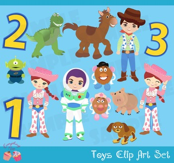 Toys Toy Story Inspired Woody Buzz Lightyear Jesse Cowgirl Inspired Clipart Set